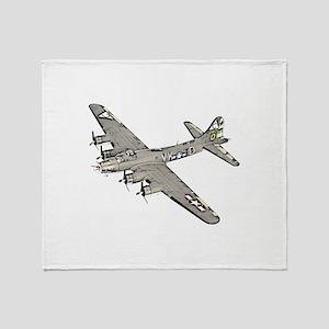 B-17 Throw Blanket