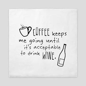 Coffee keeps me going... Queen Duvet