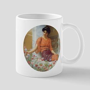 Greek Girl with Summer Flowers Mug