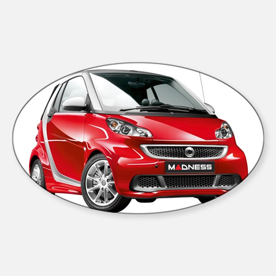 smart 451 - 2013 Red / Silver Decal