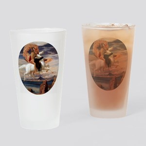 Perseus on Pegasus Mythology Drinking Glass