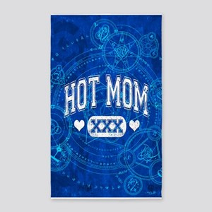 Hot Mom Blue 3'x5' Area Rug
