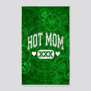 Hot Mom Green 3'x5' Area Rug