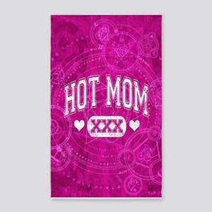 Hot Mom Pink 3'x5' Area Rug