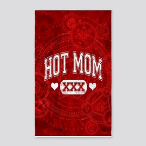 Hot Mom Red 3'x5' Area Rug