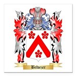 Belvezer Square Car Magnet 3