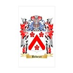 Belvezer Sticker (Rectangle 50 pk)