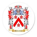 Belvedere Round Car Magnet