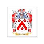 Belvedere Square Sticker 3