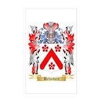 Belvedere Sticker (Rectangle)