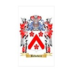Belvedere Sticker (Rectangle 10 pk)