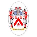 Belvedere Sticker (Oval 50 pk)