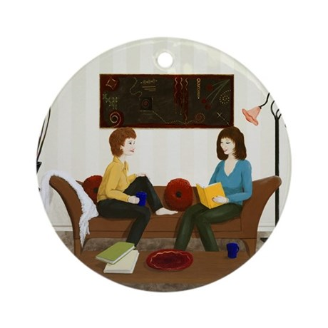 StephanieAM Chat Time Ornament (Round)