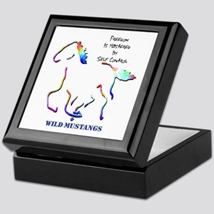 Wild Mustangs Keepsake Box