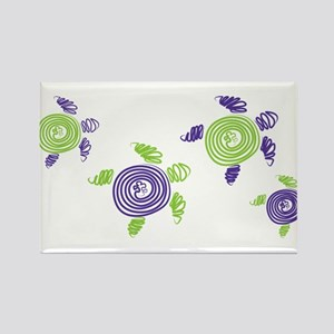 Autism Awareness Turtle Rectangle Magnet