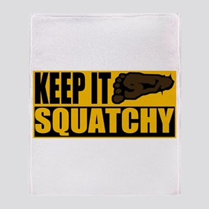 Keep it Squatchy Throw Blanket
