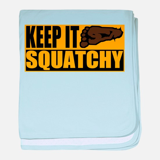 Keep it Squatchy baby blanket