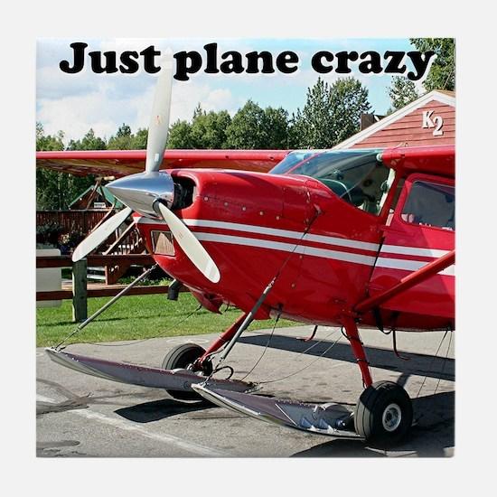 Just plane crazy: skiplane, Alaska Tile Coaster