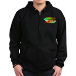 SA fashion Zip Hoodie (dark)
