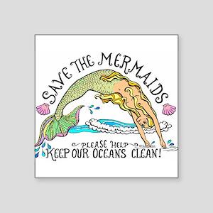 Save the Mermaid Sticker