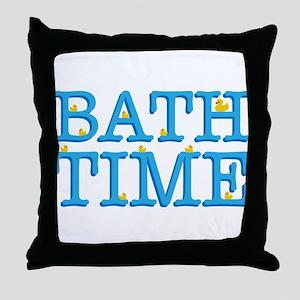 It's Bath Time Throw Pillow