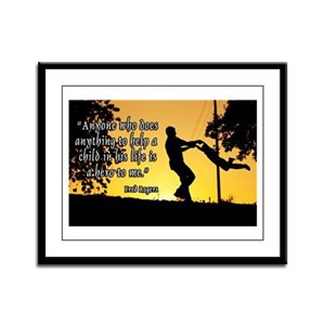 Mr. Rogers Child Hero Quote Framed Panel Print