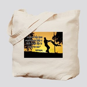Mr. Rogers Child Hero Quote Tote Bag