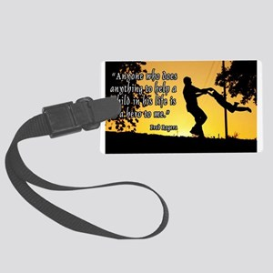 Mr. Rogers Child Hero Quote Large Luggage Tag