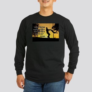 Mr. Rogers Child Hero Quote Long Sleeve Dark T-Shi