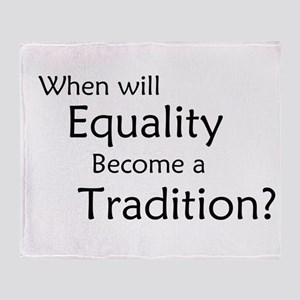 Traditional Equality Throw Blanket