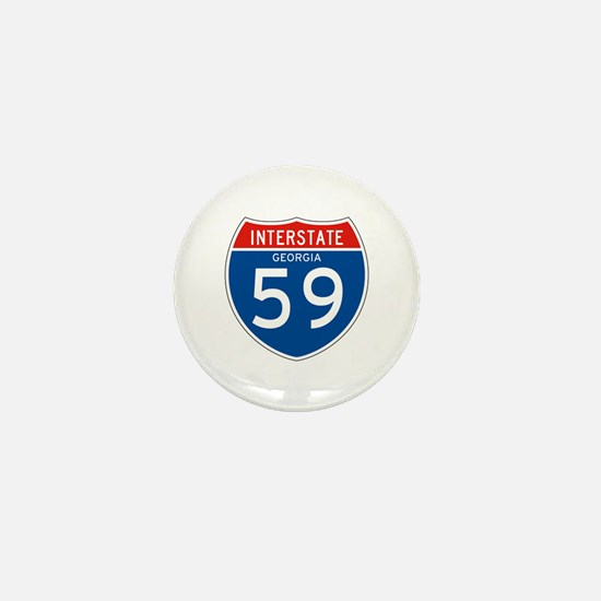 Interstate 59 - GA Mini Button