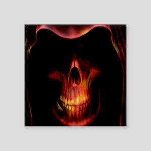 Glowing red grim reaper Sticker