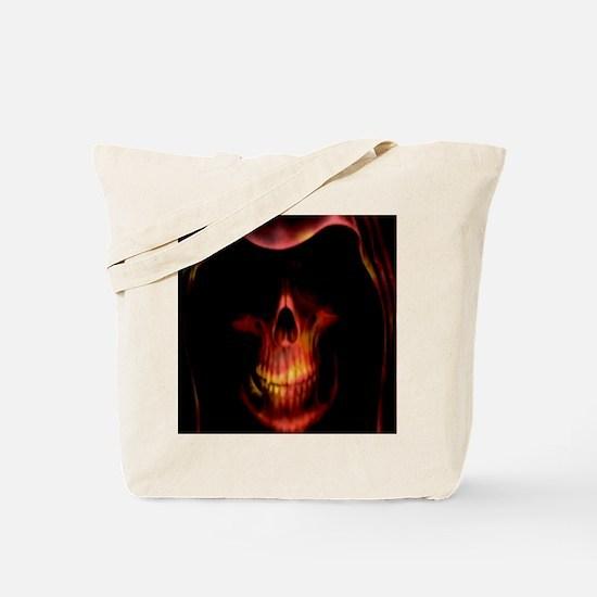 Glowing red grim reaper Tote Bag