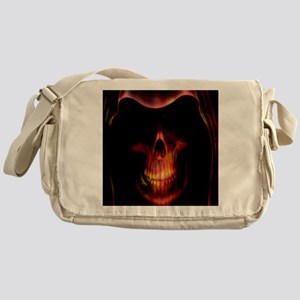 Glowing red grim reaper Messenger Bag