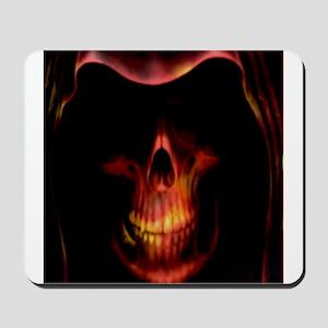 Glowing red grim reaper Mousepad