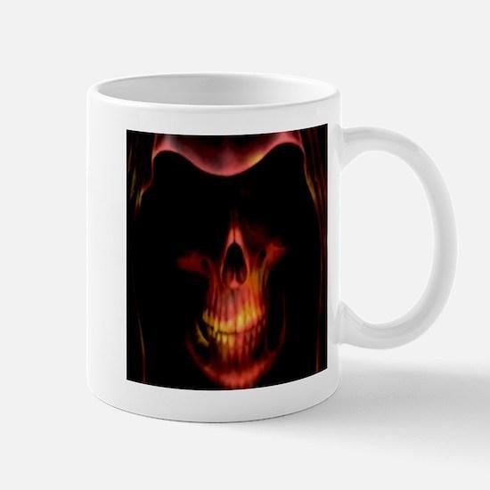 Glowing red grim reaper Mug