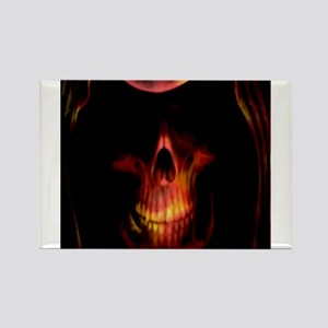 Glowing red grim reaper Rectangle Magnet