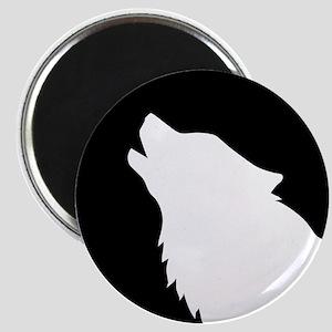 Wolf moon night Magnet