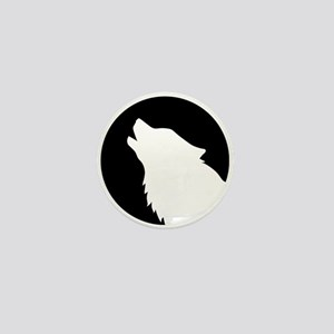Wolf moon night Mini Button