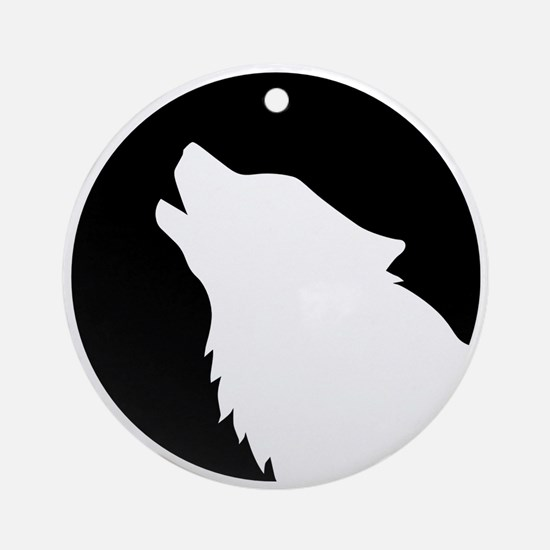 Wolf moon night Ornament (Round)