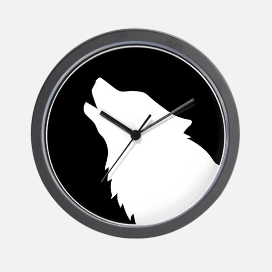 Wolf moon night Wall Clock