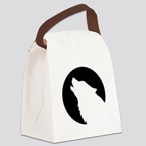 Wolf moon night Canvas Lunch Bag