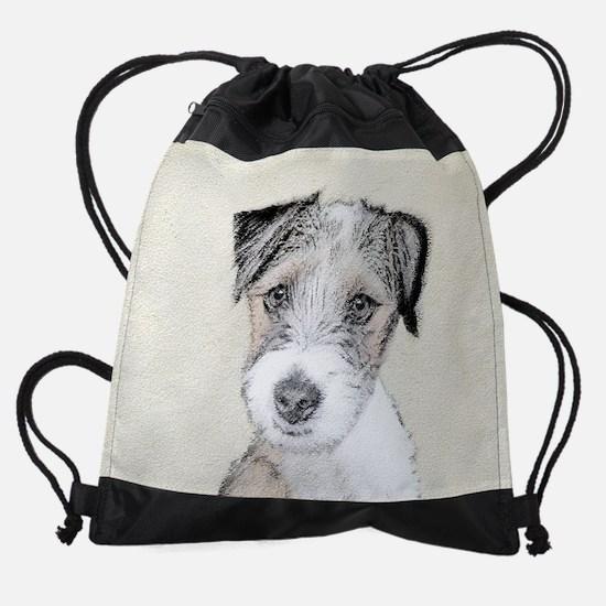 Russell Terrier Rough Drawstring Bag
