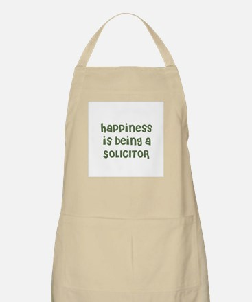 Happiness is being a SOLICITO BBQ Apron