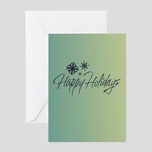 Simple Snowflakes Greeting Card