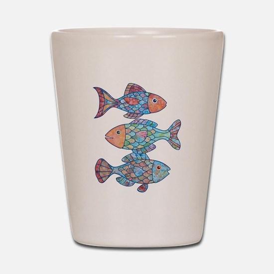 fishes 3 Shot Glass