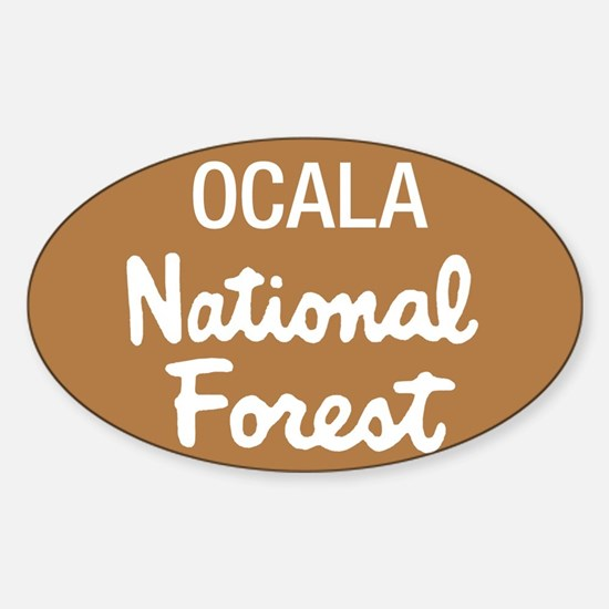 Ocala National Forest (Sign) Rectangle Decal