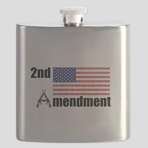 2nd Amendment AR Rifles A and Flag Flask