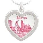 Austin Silver Heart Necklace