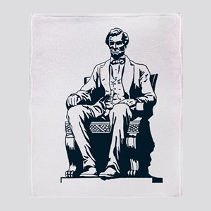 Lincoln in Chair Throw Blanket